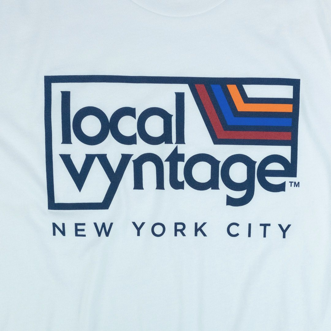 Local Vyntage NYC Logo T-Shirt Graphic White