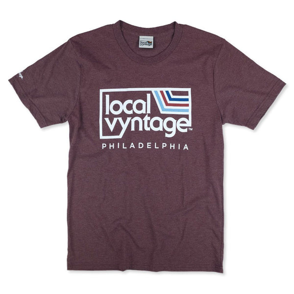 Local Vyntage Philadelphia Logo T-Shirt Front Burgundy