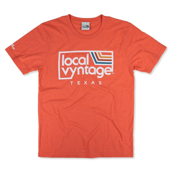 Local Vyntage Texas Logo T-Shirt Front Orange
