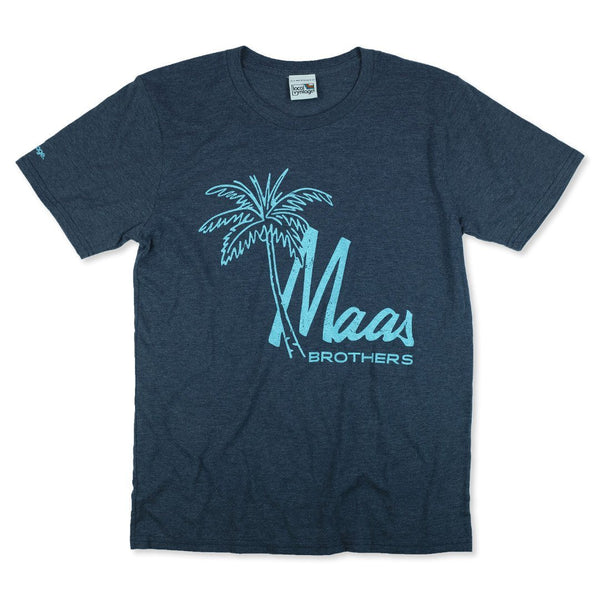 Maas Brothers T-Shirt Front Dark Blue