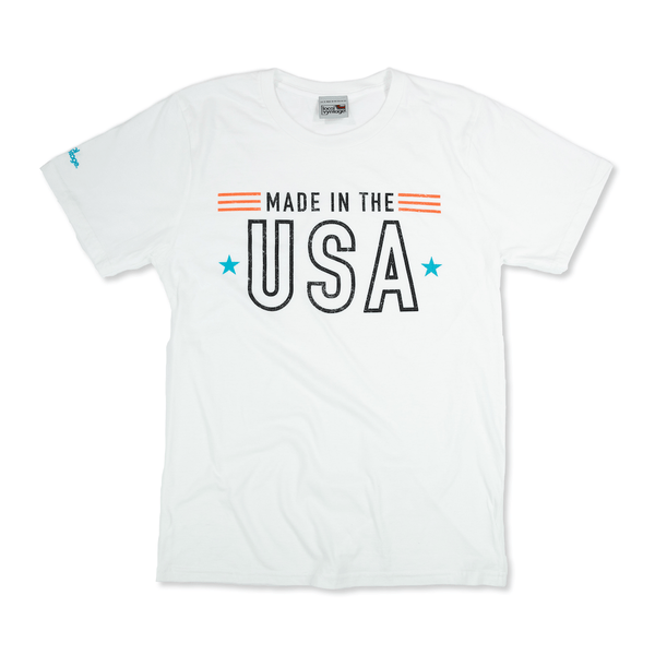 Made in the USA T-Shirt Front White