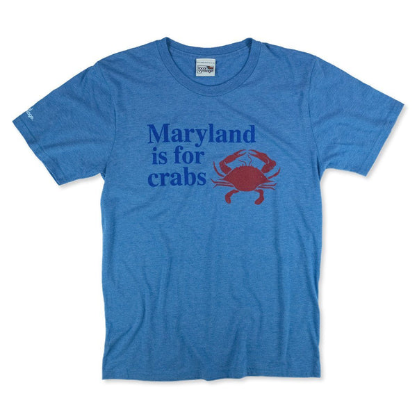 Maryland Is For Crabs T-Shirt Front Royal Blue