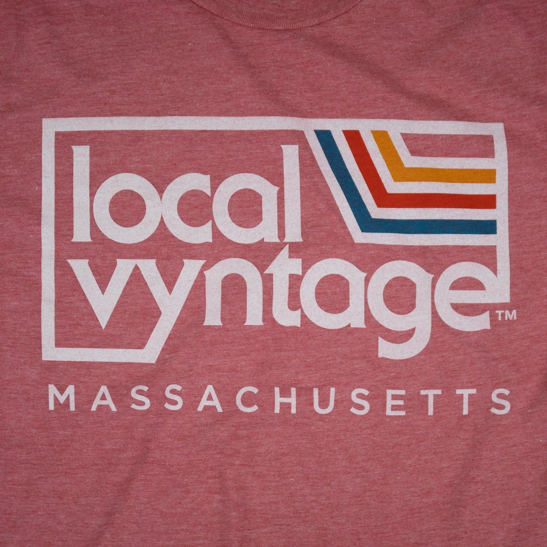 Local Vyntage Massachusetts T-Shirt Graphic Faded Red