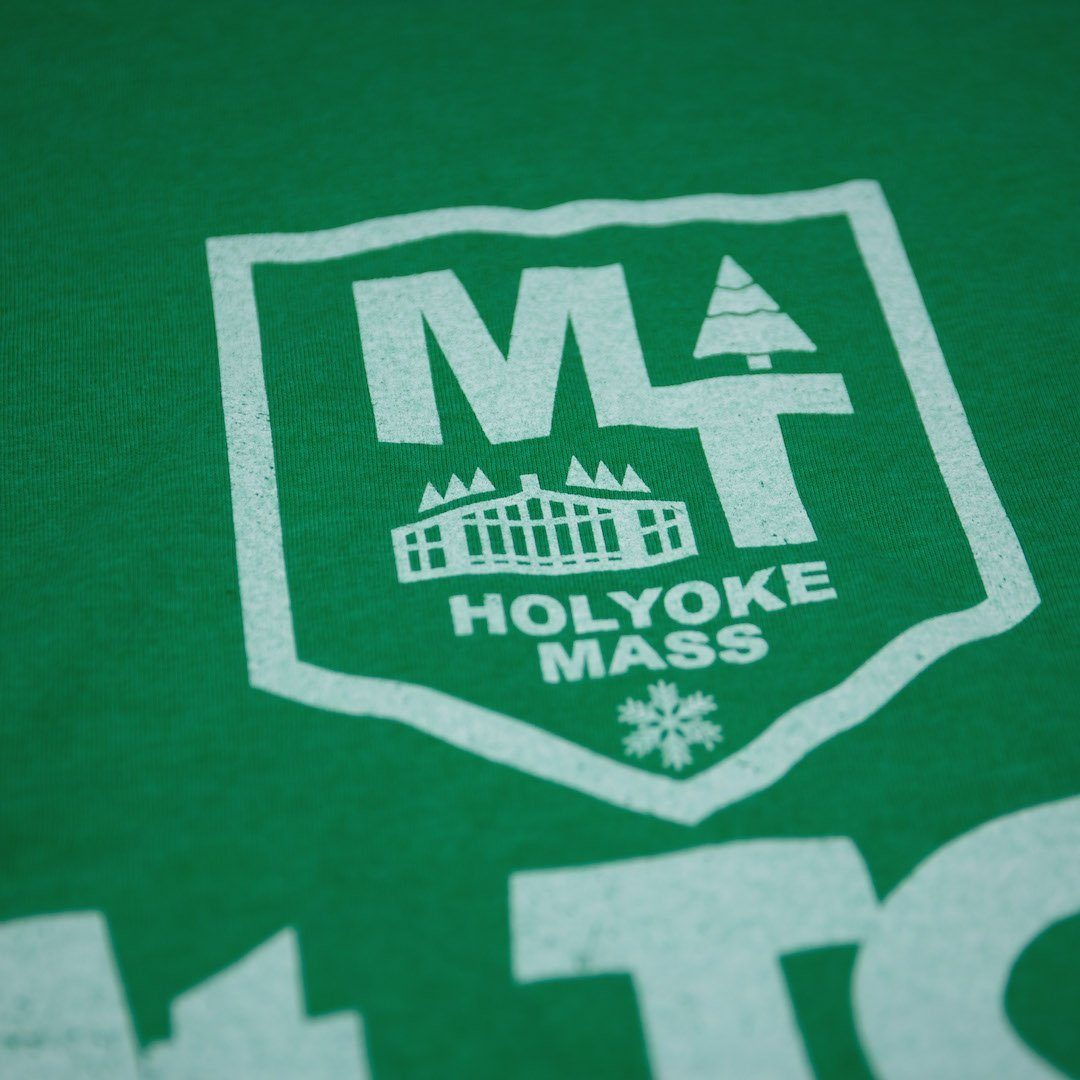 Mt. Tom Massachusetts T-Shirt Detail Green