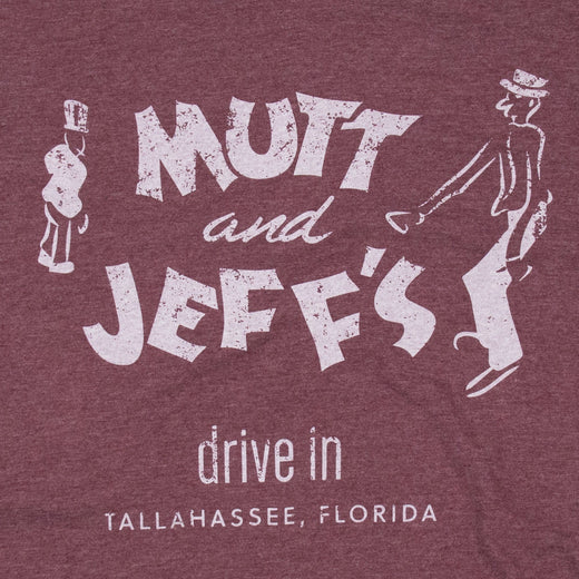 Mutt And Jeff's Tallahassee T-Shirt Graphic Burgundy Men's