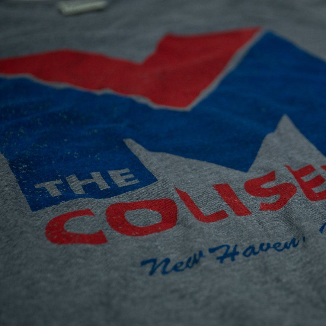 New Haven Coliseum T-Shirt Detail Gray