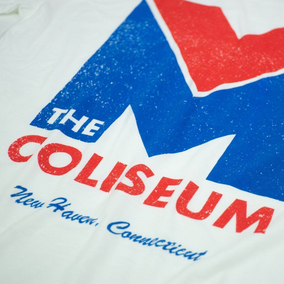 New Haven Coliseum T-Shirt Detail White