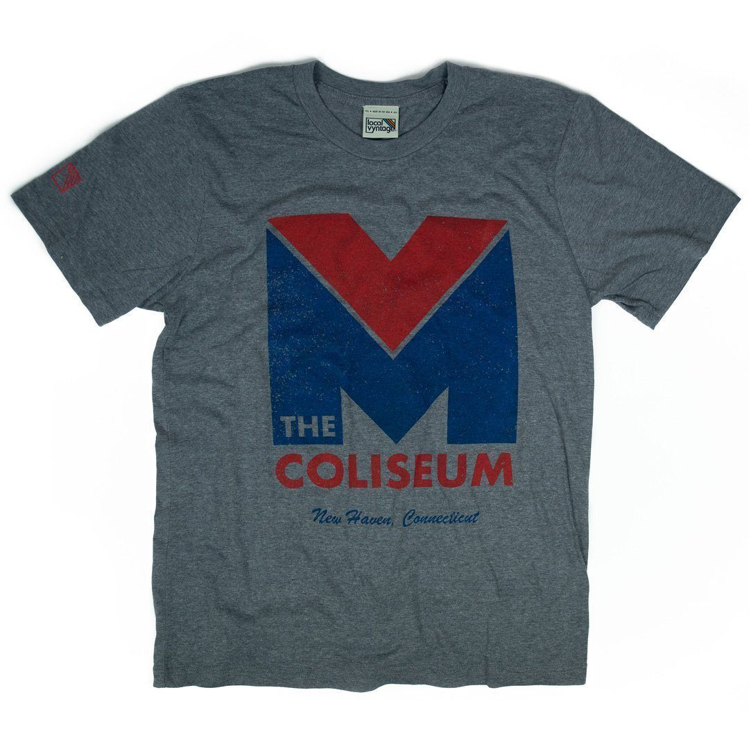 New Haven Coliseum T-Shirt Front Gray