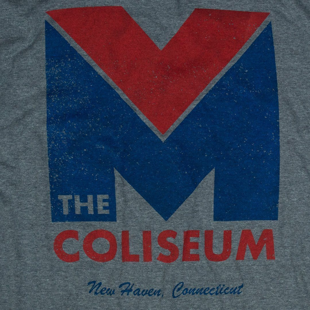 New Haven Coliseum T-Shirt Graphic Gray