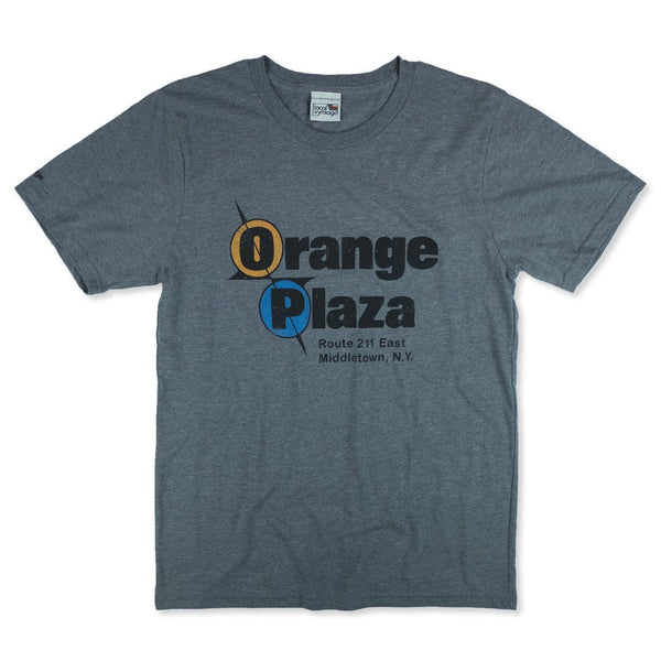 Orange Plaza Mall T-Shirt Front Gray