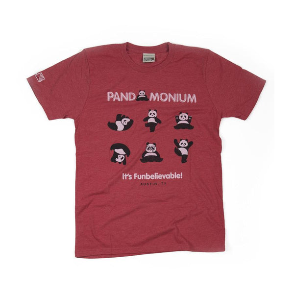 Pandamonium Austin T-shirt Front Red