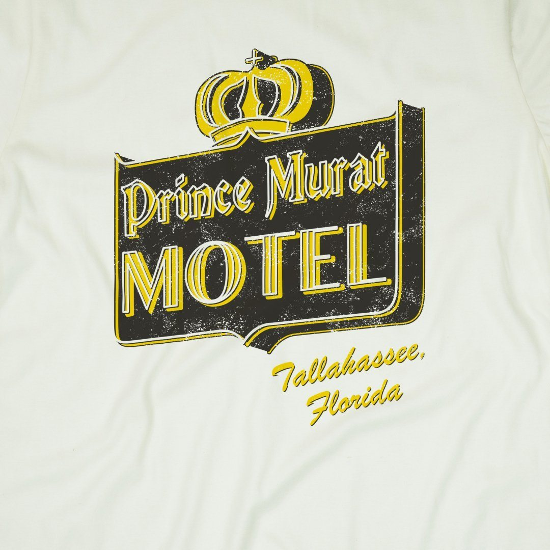 Prince Murat Motel Tallahassee T-Shirt Front Off-White