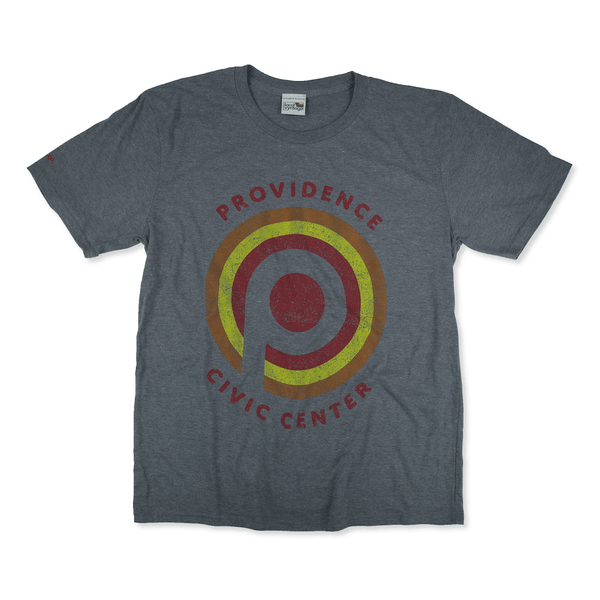 Providence Civic Center Rhode Island T-Shirt Front Gray
