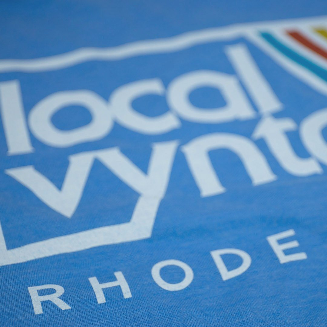 Local Vyntage Rhode Island T-Shirt Detail Light Blue