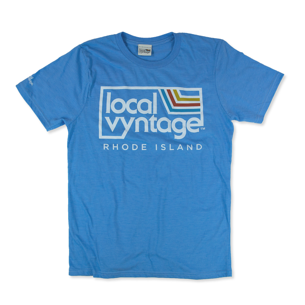 Local Vyntage Rhode Island T-Shirt Front Light Blue