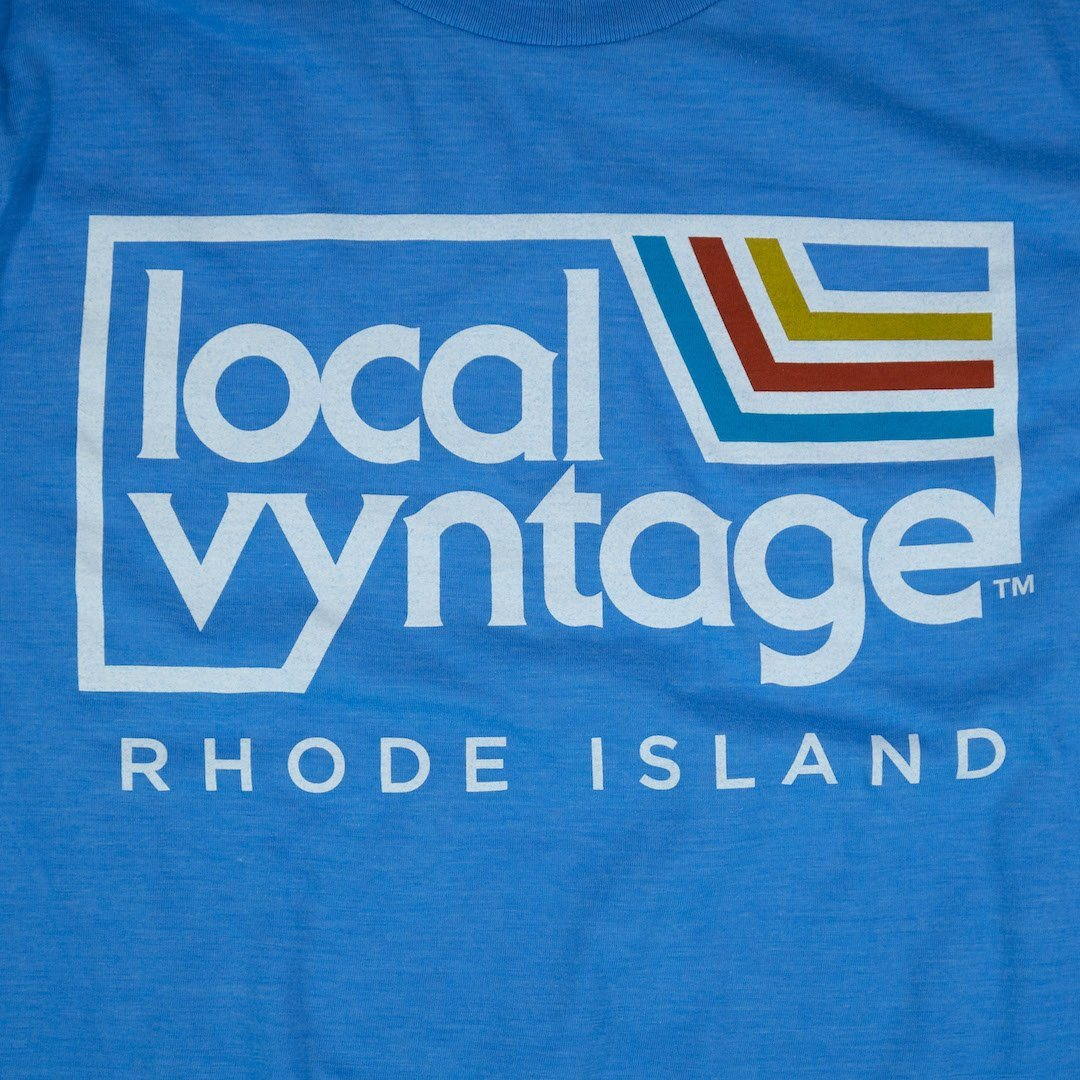 Local Vyntage Rhode Island T-Shirt Graphic Light Blue