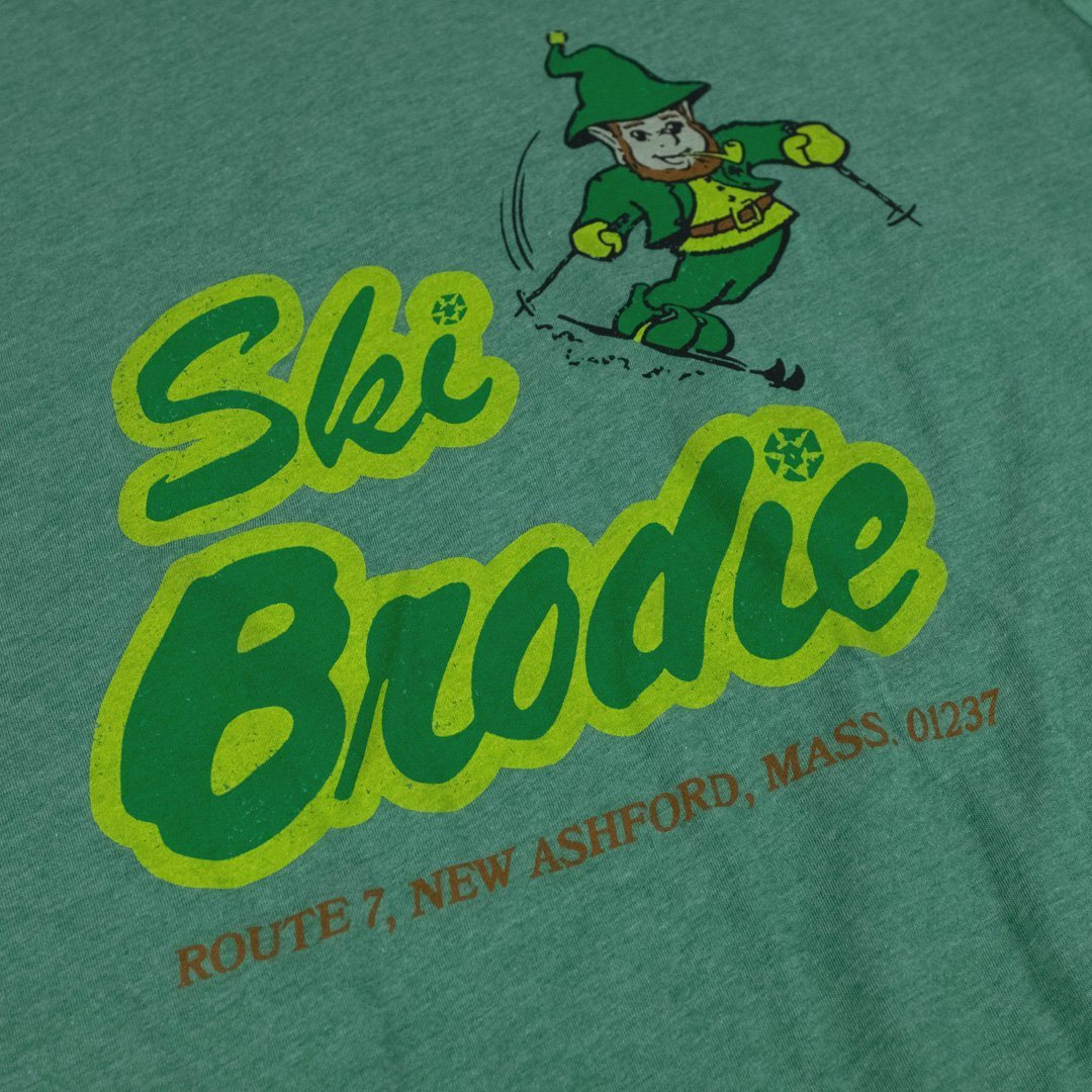 Ski Brodie T-Shirt Detail Faded Green