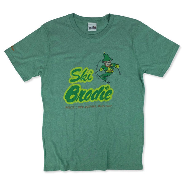 Ski Brodie T-Shirt Front Faded Green