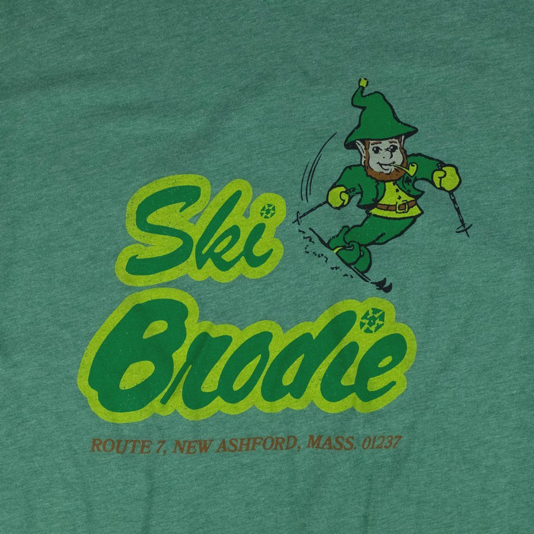 Ski Brodie T-Shirt Front Graphic Green