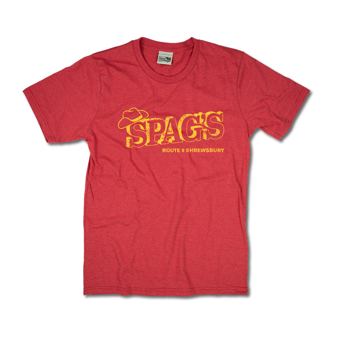 Spag's Worcester Massachusetts T-Shirt Front Red