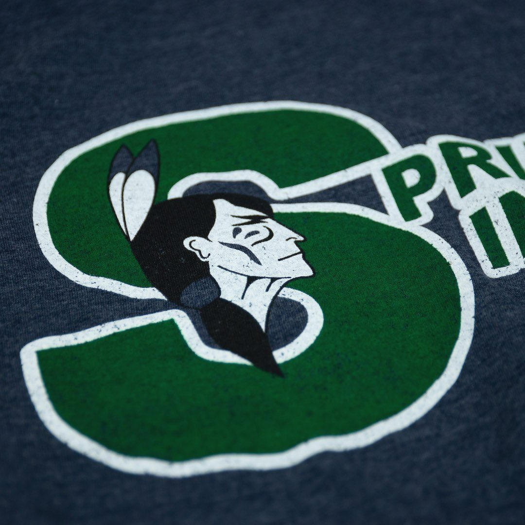 Springfield Indians T-Shirt Detail Dark Blue
