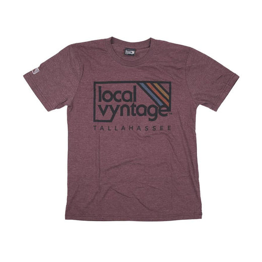 Tallahassee Local Vyntage Logo T-Shirt Burgundy Men's