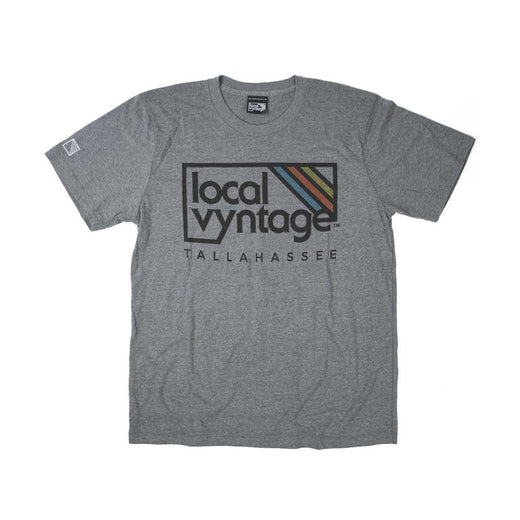 Tallahassee Local Vyntage Logo T-Shirt Gray Men's