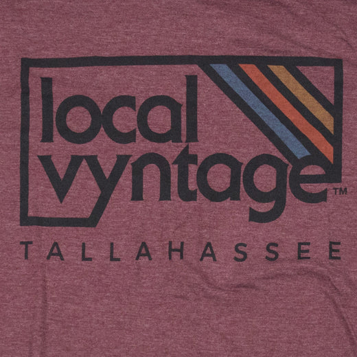 Tallahassee Local Vyntage Logo T-Shirt Graphic Burgundy Men's