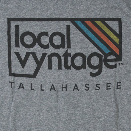 Tallahassee Local Vyntage Logo T-Shirt Graphic Gray Men's