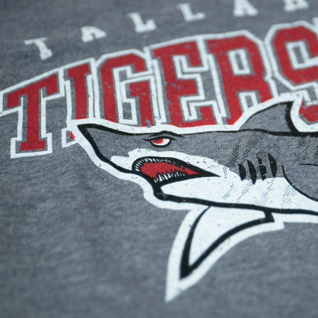 Tallahassee Tiger Sharks T-Shirt Detail Gray