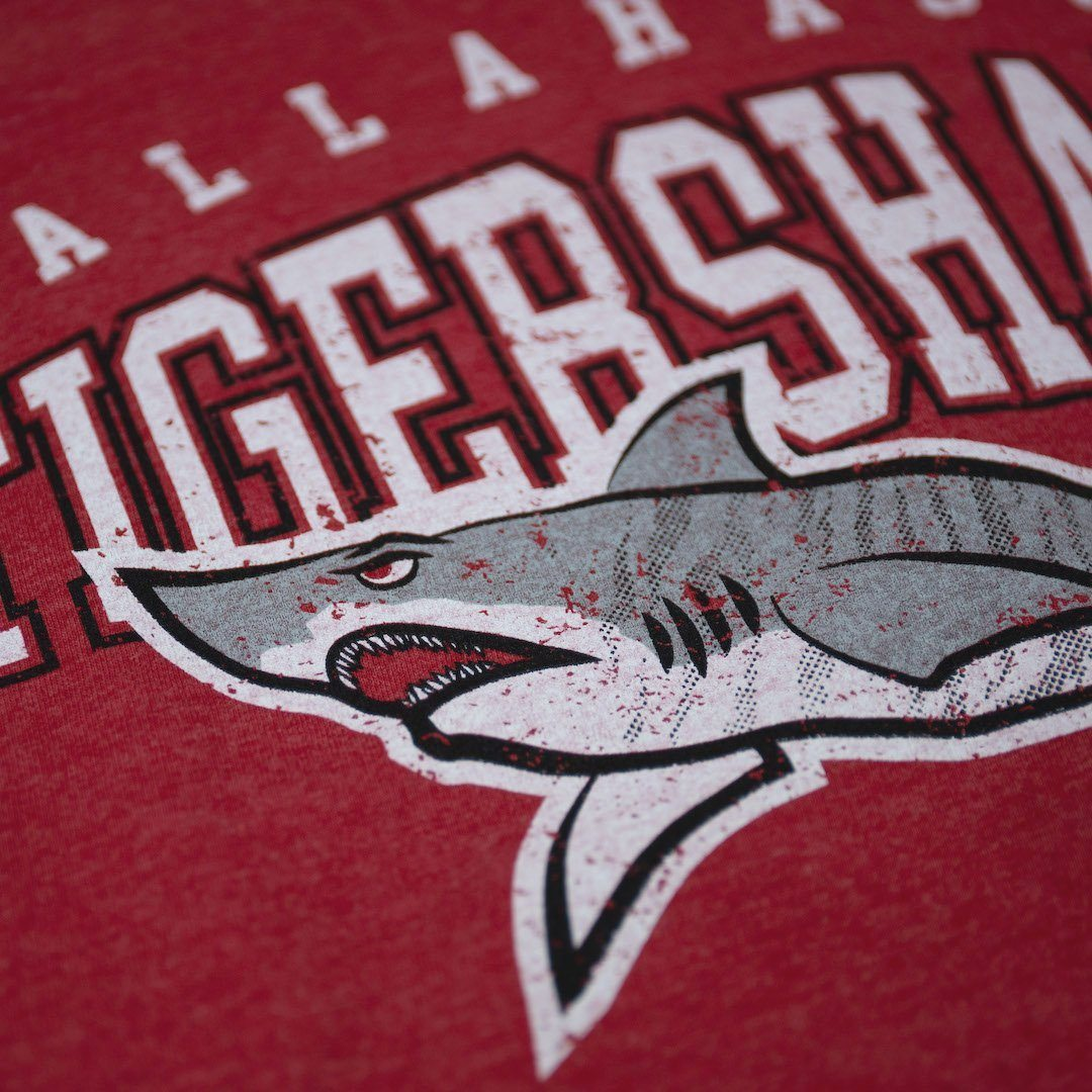 Tallahassee Tiger Sharks T-Shirt Detail Red