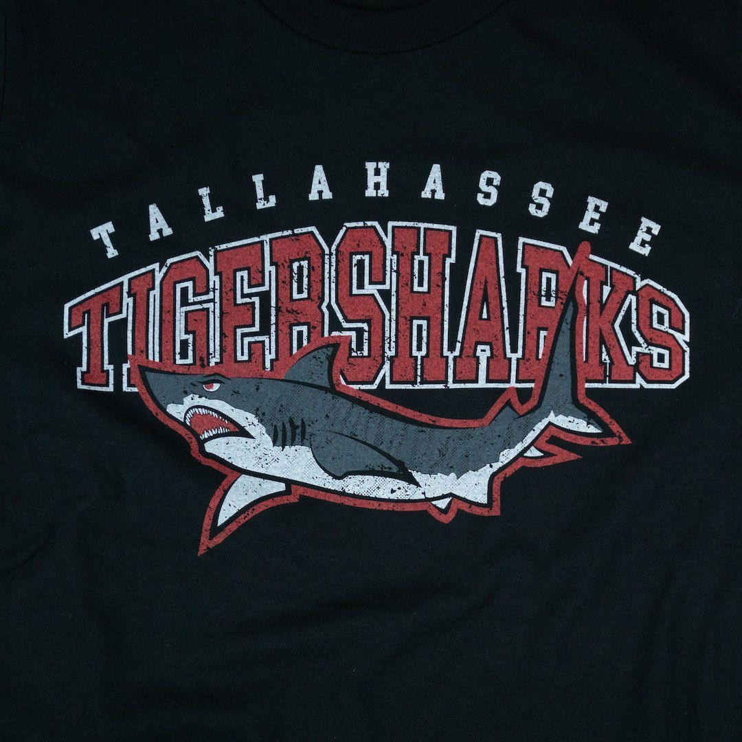Tallahassee Tiger Sharks T-Shirt Graphic Black