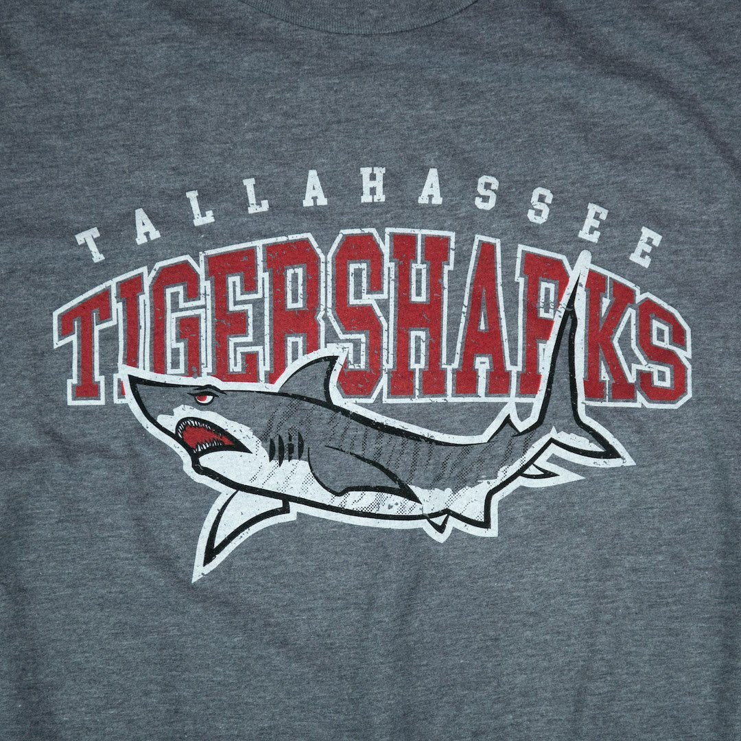 Tallahassee Tiger Sharks T-Shirt Graphic Gray