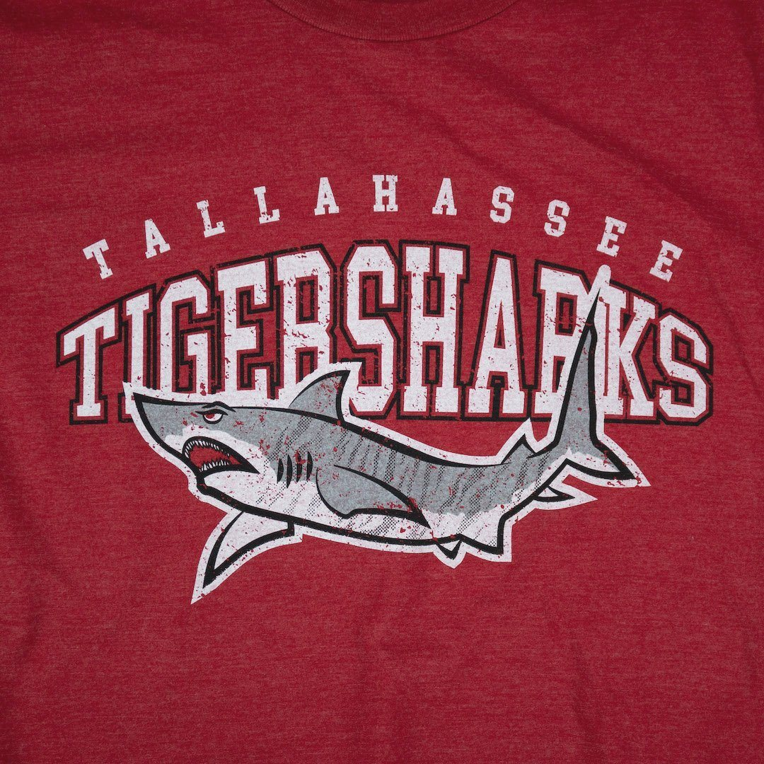Tallahassee Tiger Sharks T-Shirt Graphic Red