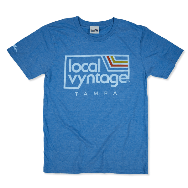 Local Vyntage Tampa T-Shirt Front Royal Blue