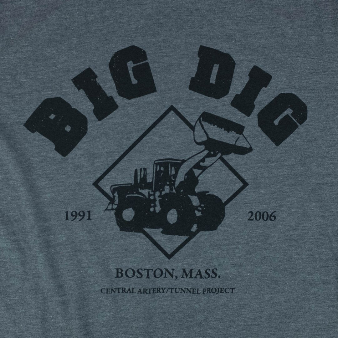The Big Dig Boston T-Shirt Greaphic Gray
