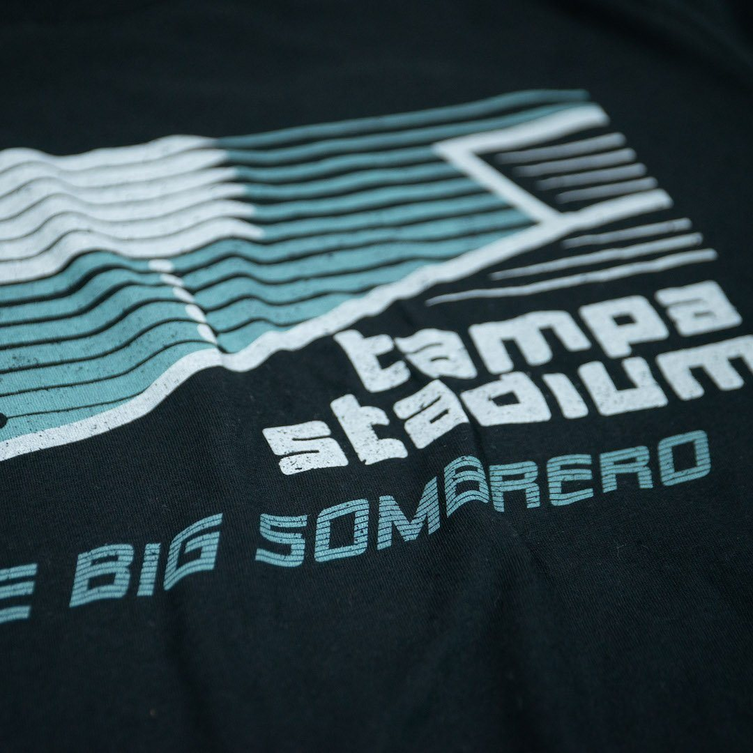 The Big Sombrero Tampa Stadium T-Shirt Detail Black