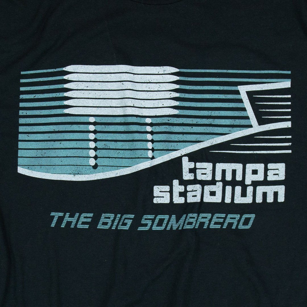 The Big Sombrero Tampa Stadium T-Shirt Graphic Black