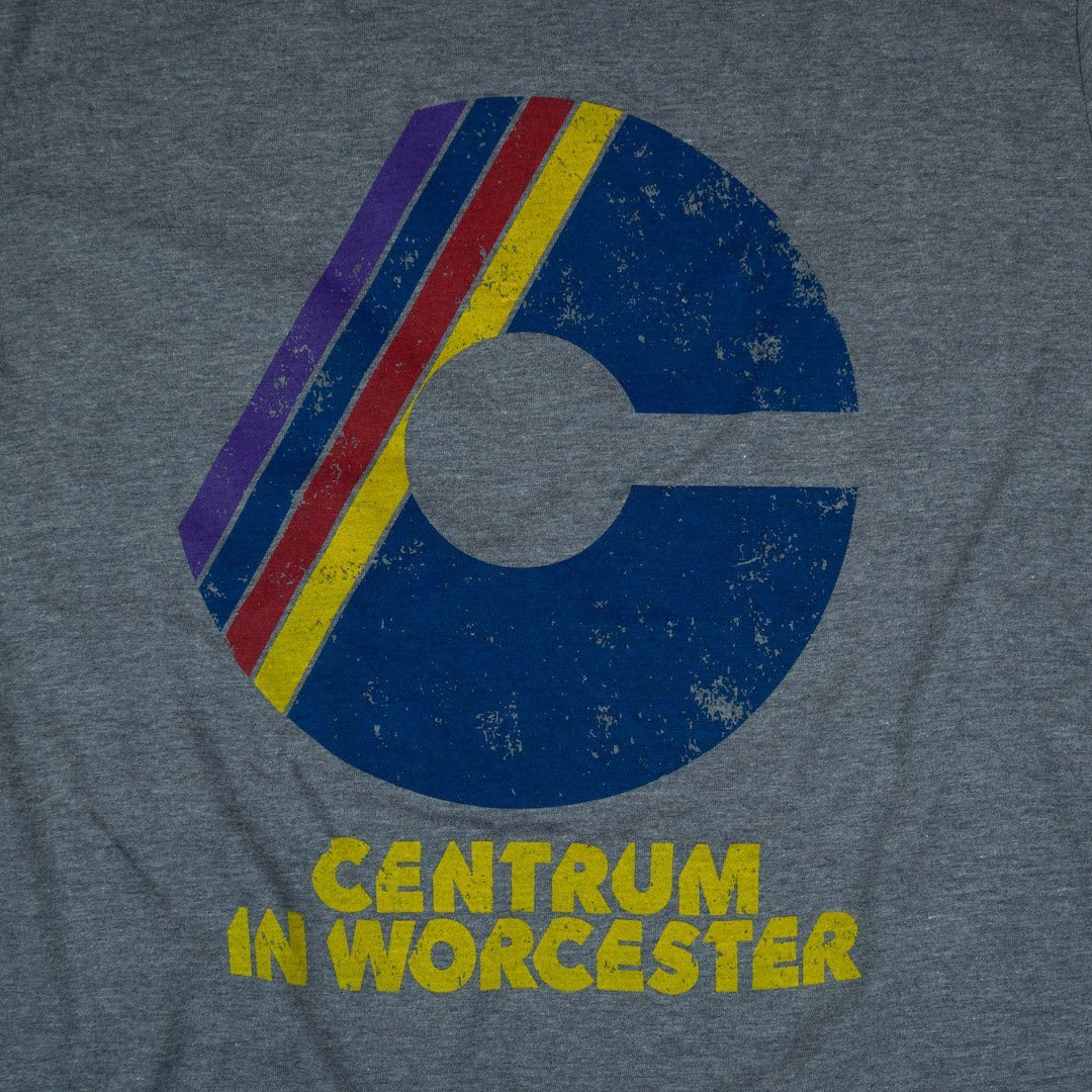 The Centrum Worcester Massachusetts T-Shirt Graphic Gray