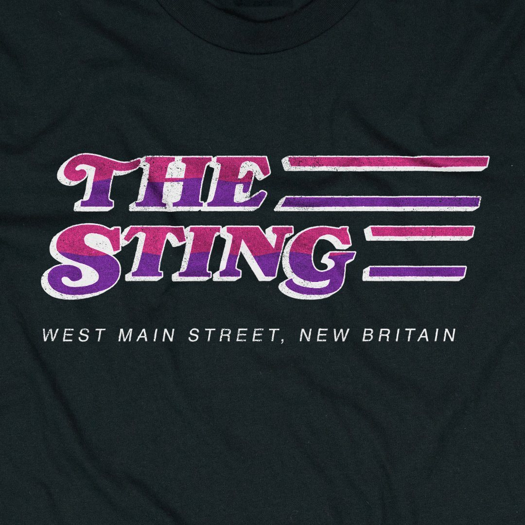 The Sting New Britain T-Shirt Graphic Black