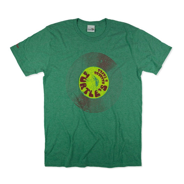 Turtle's Records And Tapes T-Shirt Front Faded Green