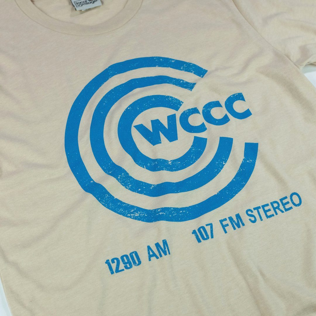 WCCC FM Hartford Connecticut T-Shirt Detail Beige