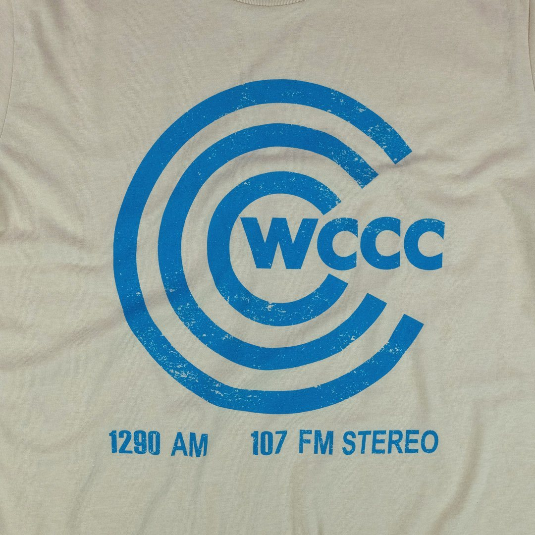 WCCC FM Hartford Connecticut T-Shirt Graphic Beige