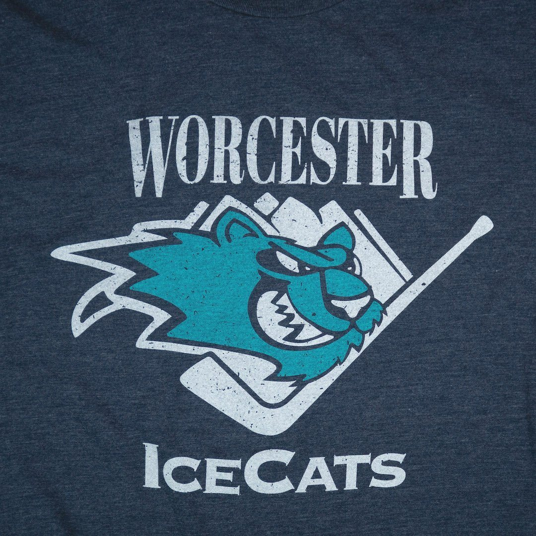 Worcester IceCats Massachusetts T-Shirt Graphic Dark Blue
