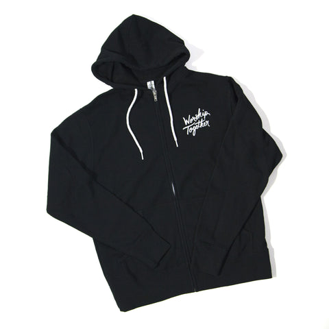 Worship Together Black Logo Zip Hoodie