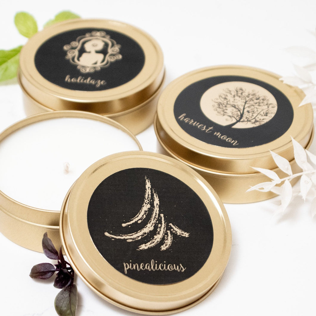 *NEW* Holiday Mini Soy Candles