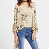 Image of Off Shoulder Floral Blouse