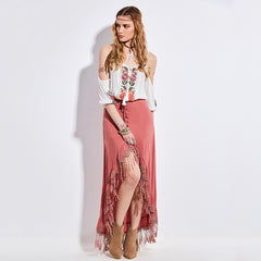 Gloria Tassel Skirt