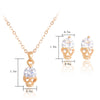 Image of Crystal Skull Earring + Necklace Set
