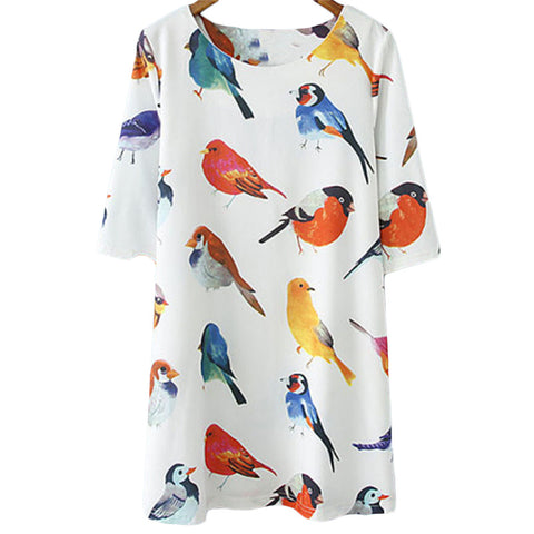 Watercolor Bird Dress